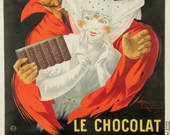 Placa Retro Vintage Chocolate 60x40cm