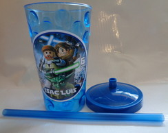 Copo com Canudo Star Wars Lego de 500ml