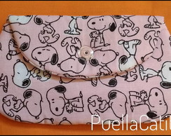 Mini Clutch Snoopy Rosa