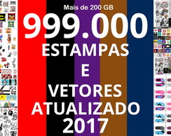 Kit Digital 999.000 Estampas e Vetores