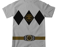 Camiseta Power Rangers - Branco