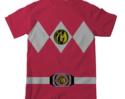 Camiseta Power Rangers Rosa