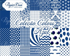 Kit Digital Papers Azul