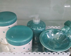Kit higiene verde Tiffany