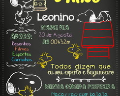 Arte Digital Chalkboard Snoopy