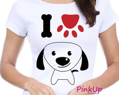 Camiseta Baby-Look - Dog