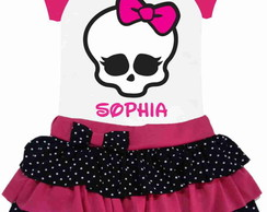 Conjunto Saia Monster High
