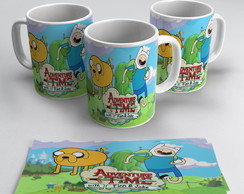 Caneca Porcelana Adventure Time