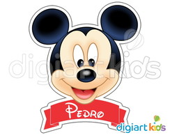 Placa com Recorte - Mickey