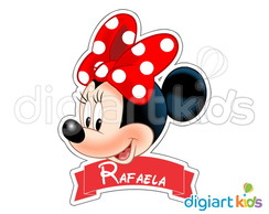 Placa com Recorte - Minnie