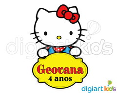 Placa com Recorte - Hello Kitty