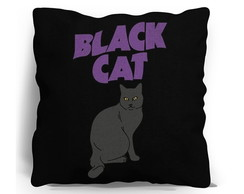 ALMOFADA SILK SCREEN - GATO NEGRO