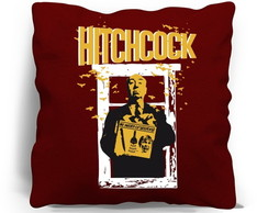 ALMOFADA SILK SCREEN - HITCHCOCK