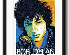 Quadro Bob Dylan Pop Art com Paspatur