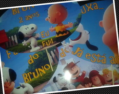 Placa Divertida Snoopy