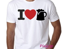 Camiseta Unissex - I Love Beer