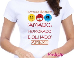 Camiseta Baby-Look - Livrai-me do mal
