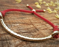 Pulseira good vibes - red