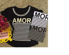 Blusa Baby Look AMOR