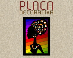 PLACA DECORATIVA - ARTE 01