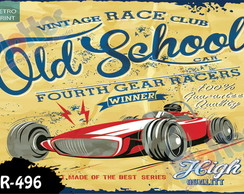 Placa Retro Vintage Hot Rod 60x40cm