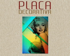PLACA DECORATIVA - MERILYN