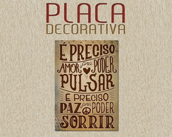 PLACA DECORATIVA - FRASES 03