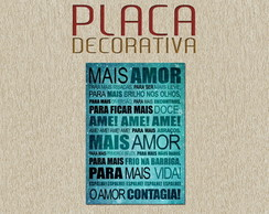 PLACA DECORATIVA - FRASES 05