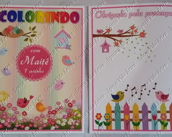 Kit Colorir com Massinha Pássaros