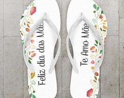 Chinelo Dia das Maes Floral