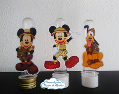 Aplique de Tubete - Mickey Safari