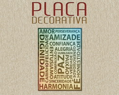 PLACA DECORATIVA - FRASES 08