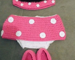 Conjunto Minnie crochê