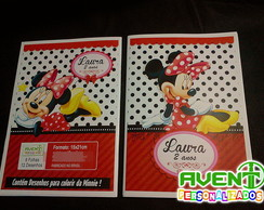 Revista para colorir da Minnie Vermelha