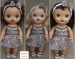 Look oncinha Baby Alive Menores