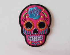 Patch termocolante caveira mexicana