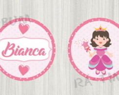 Topper Cupcake Princesas - Arte Digital