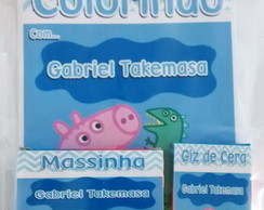 Kit de Colorir Personalizado + massinha