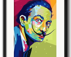 Quadro Salvador Dali Pop Art Paspatur