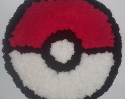 Tapete de Pompom de Lã Pokemon Pokebola