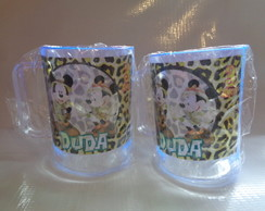 Caneca de 300ml Mickey e Minnie Safari