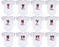 Kit Body Mêsversario Minnie MV058