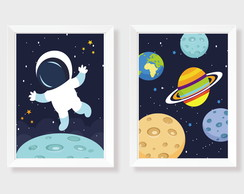 Quadros Decor Infantil Astronauta