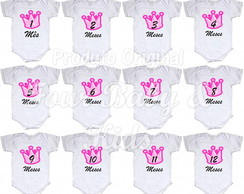 Kit Body Mêsversario Coroa Rosa MV067