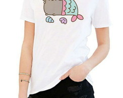 T-shirt Pusheen mermaid