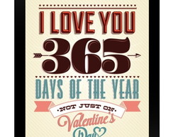 Quadro Poster 0089 i love you
