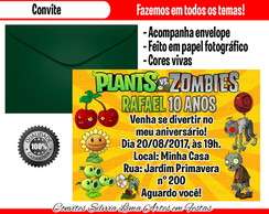 Convite plants vs zombies