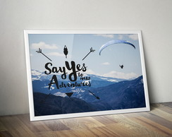 Quadro Say Yes A3
