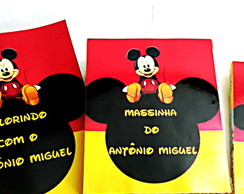 Kit c/ giz e massinha mickey