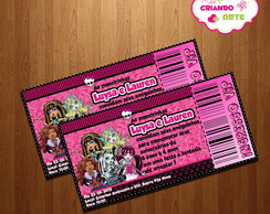 Arte Digital Ingresso Vip Monster High
